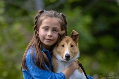 Young Child with Rough Collie
